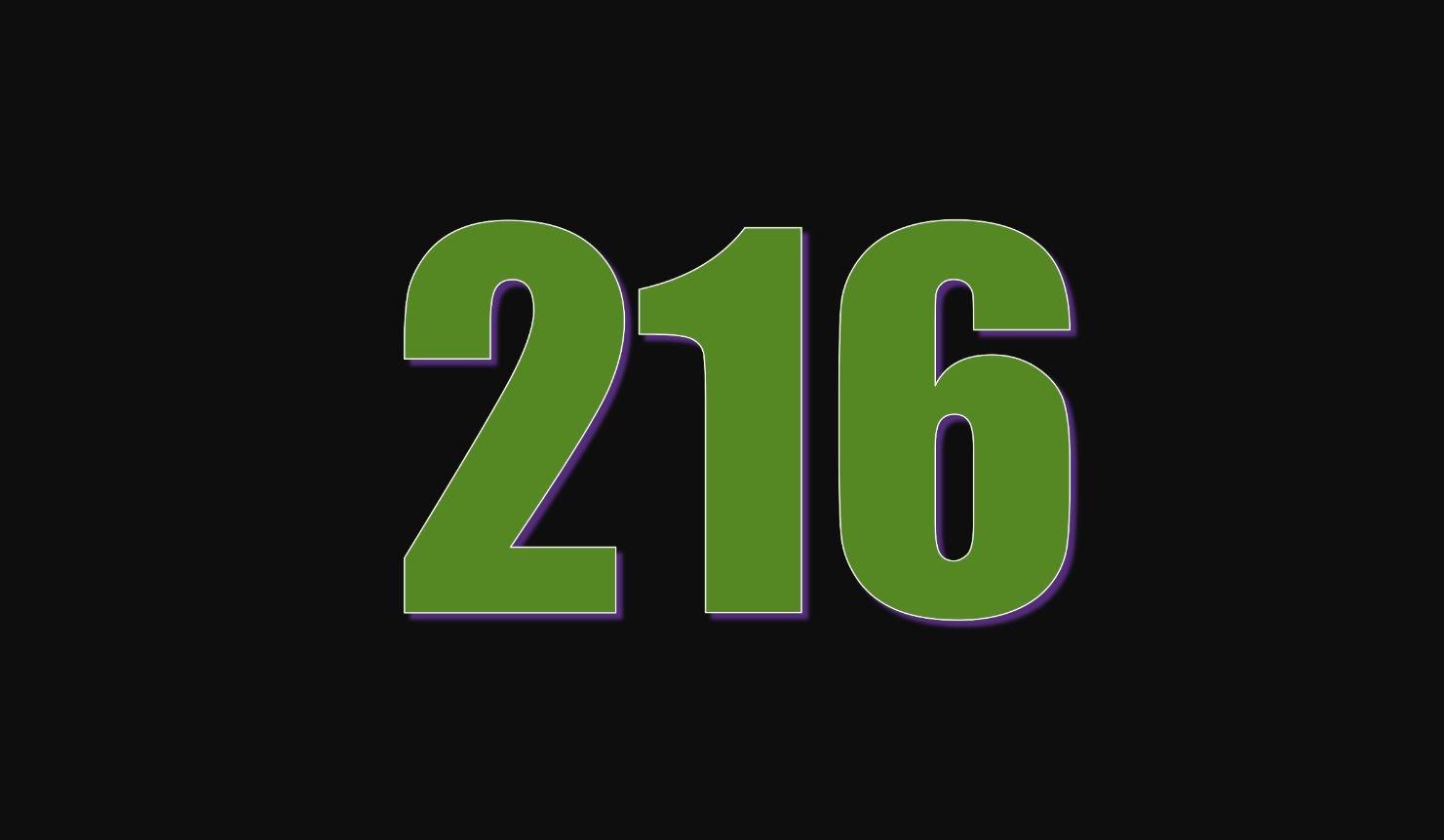 Die Bedeutung der Zahl 216