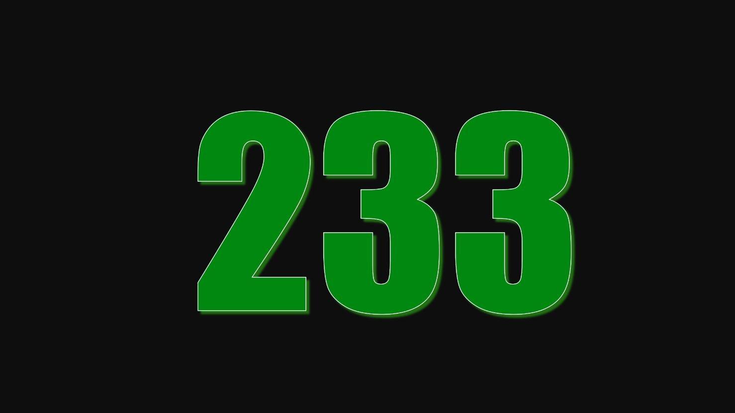 Die Bedeutung der Zahl 233