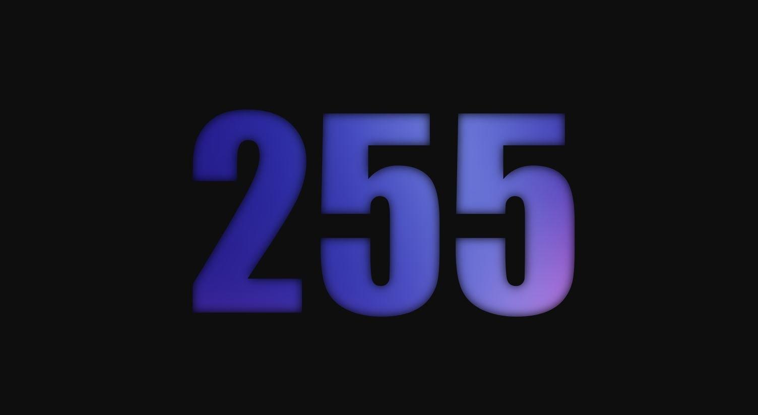 Die Bedeutung der Zahl 255
