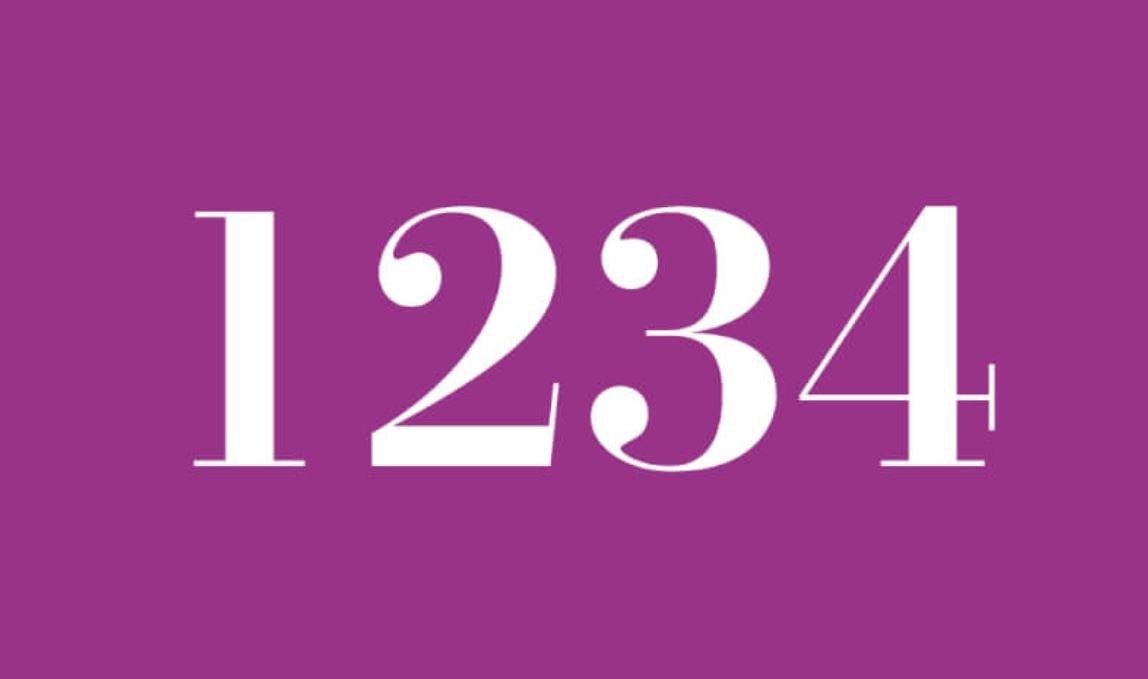 Die Bedeutung der Zahl 1234