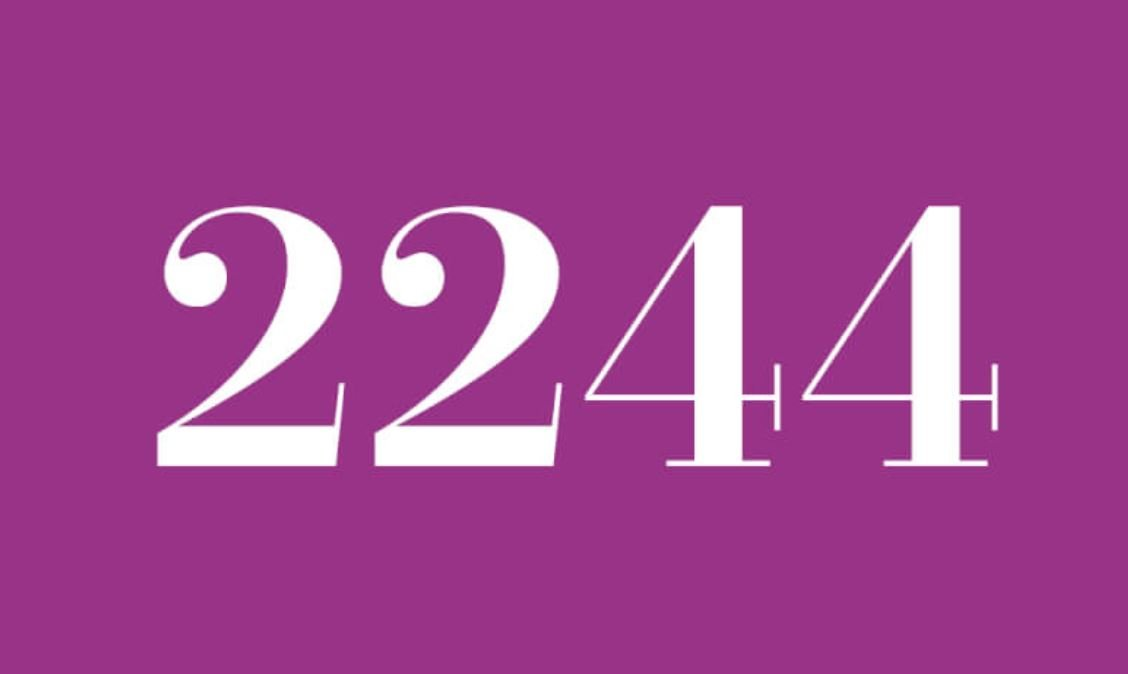 Die Bedeutung der Zahl 2244