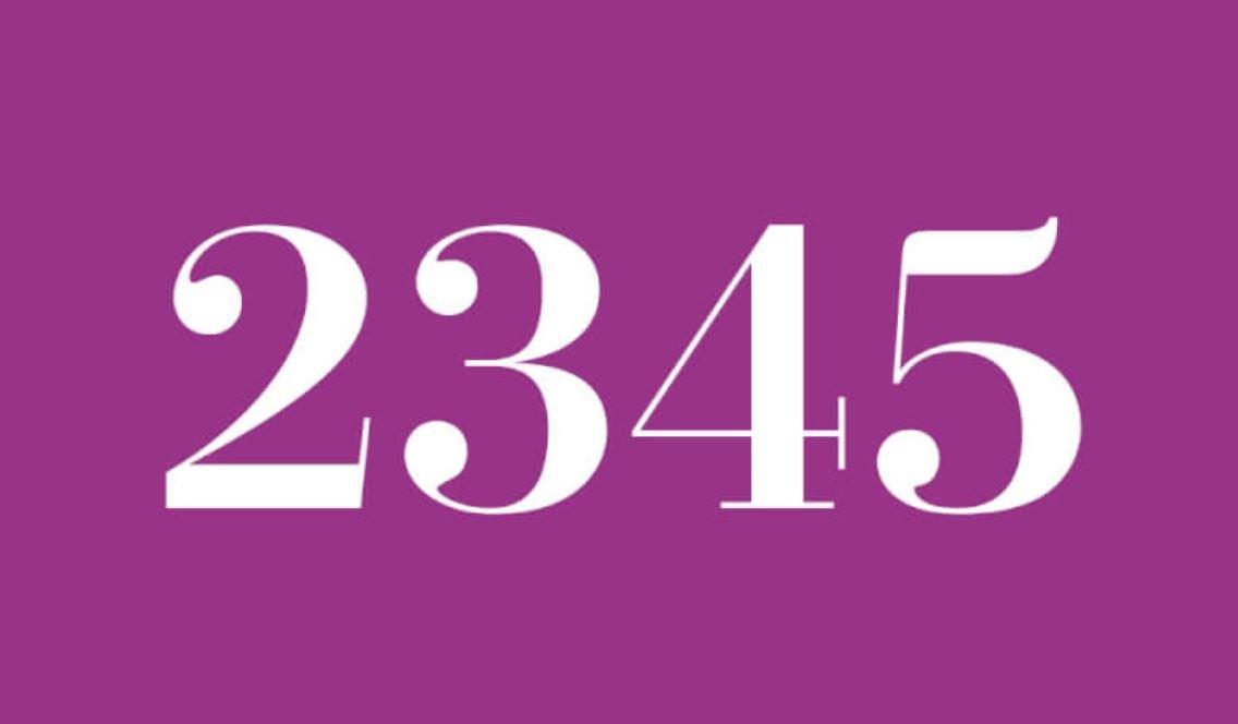 Die Bedeutung der Zahl 2345