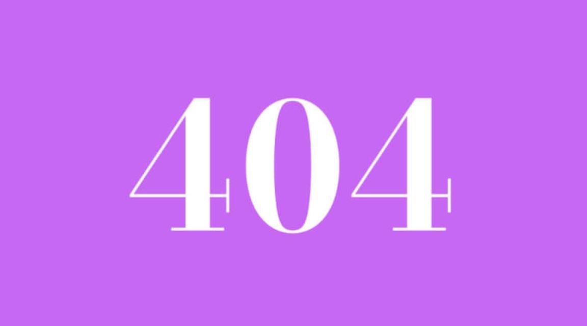 Die Bedeutung der Zahl 404