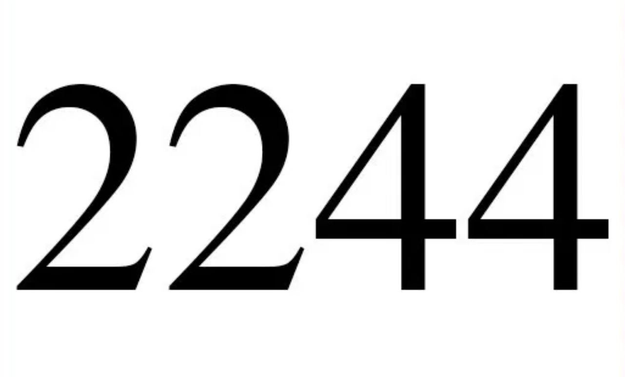 Engelszahl 2244