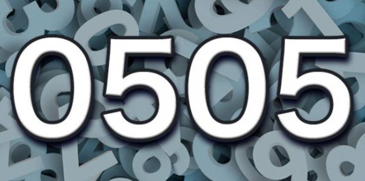 Die Bedeutung der Zahl 0505
