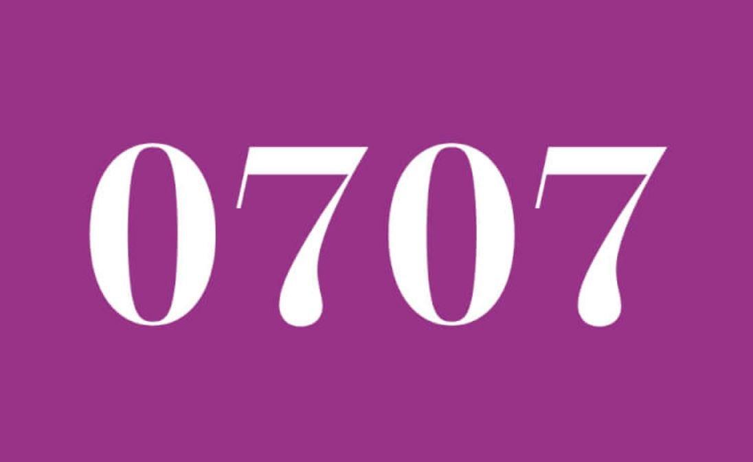Die Bedeutung der Zahl 0707