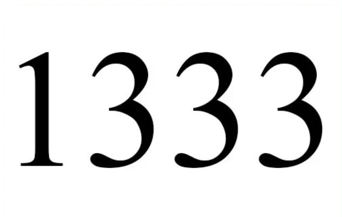 Engelszahl 1333
