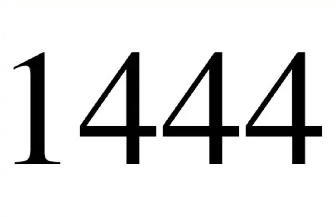Engelszahl 1444